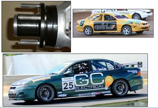 Big Bearing Hubs Commodore VR to VZ MSF Racing Components
